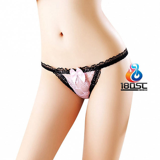 La CoCo Sexy Lace Thong with Chain 49654