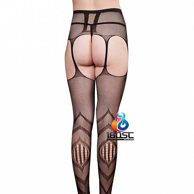 La CoCo Irregular Pattern Fishnet Suspender Pantyhose