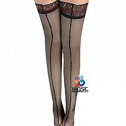 La CoCo 孔雀花邊大腿襪