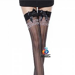 La CoCo 性感條紋高筒大腿襪