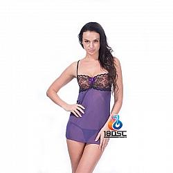 La CoCo 紫色薄紗蕾絲內衣套裝