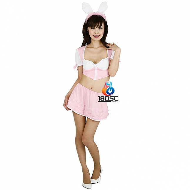 A-One Costume Love Cute Pink Bunny Costume