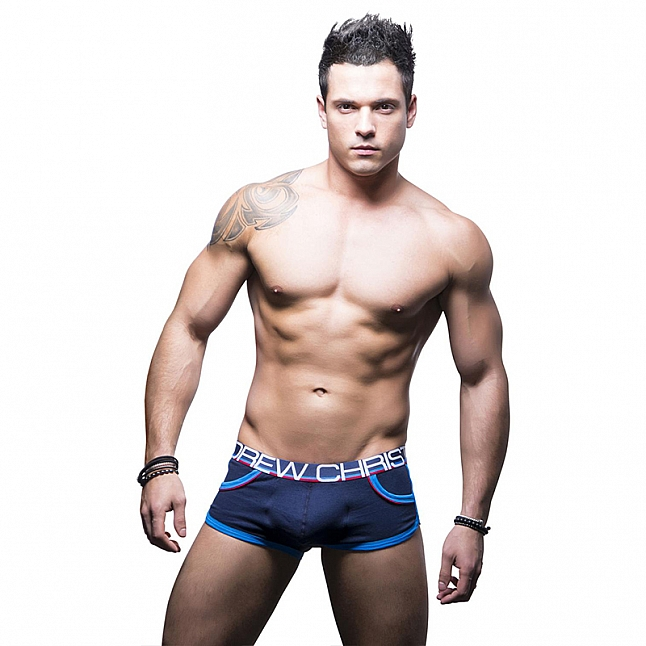 Andrew Christian Show-It Retro Pop Boxer Navy Blue
