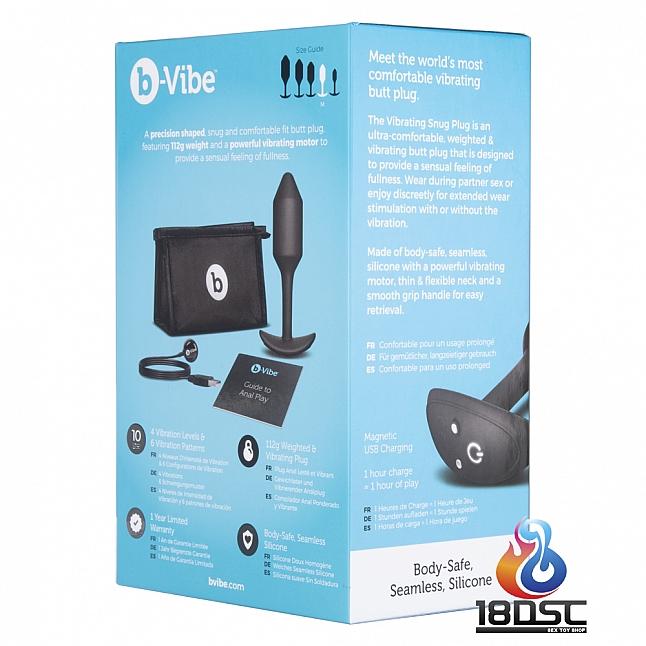 b-Vibe Vibrating Snug Plug Medium