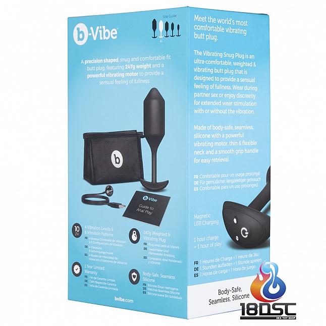 b-Vibe Vibrating Snug Plug Large