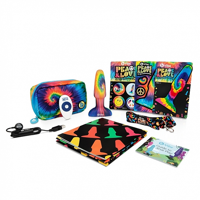 b-Vibe - Peace & Love Tie-Dye Rimming Plug Set