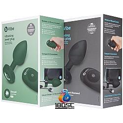 b-Vibe - Jewel Plug 無線遙控寶石後庭塞 中大碼