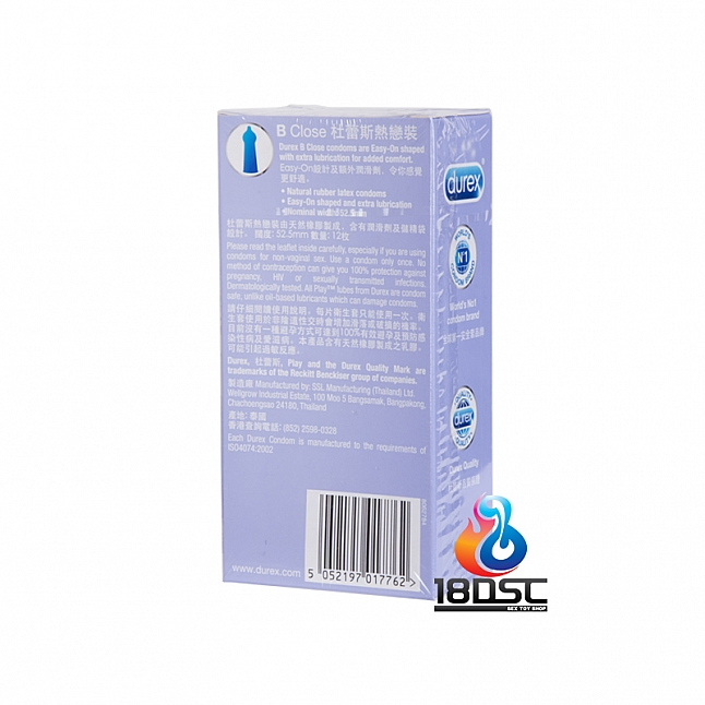 Durex - B Close Condom (HK Edition) 12 Pcs