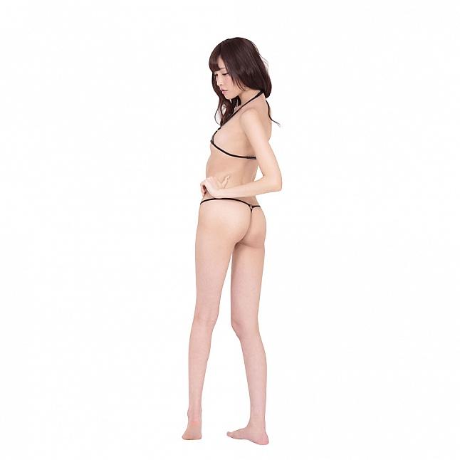 EROX Sexy Black Wet Look Bra Set