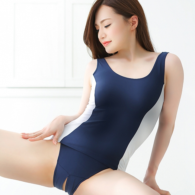 EXE CUTE - SS002 Open Crotch School Swimwear