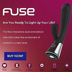 Kiiroo - Fuse 智能充電式無線遙控兔頭按摩棒