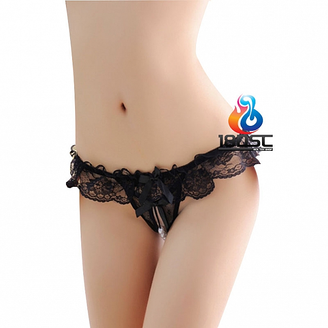 La CoCo Crotchless Pearl Thong 43961