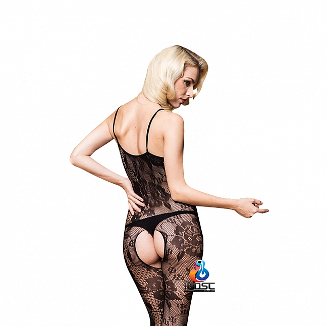 La CoCo Floral Patterned Crotchless Bodystocking