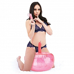 Lux Fetish - 充氣球配電動仿真陽具套裝