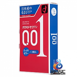 Okamoto - 岡本 0.01 超潤滑油裝 (日本版) 3片裝