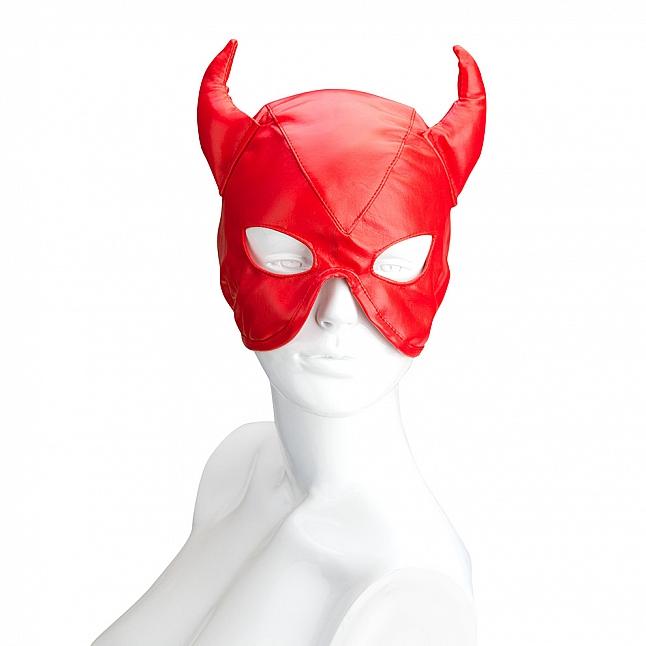 S&M Essentials - Devil Horns Patent Leather Mask