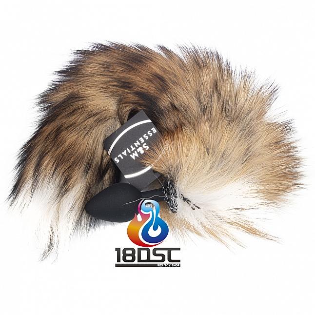 S&M Essentials - Fox Furry Tail Silicone Butt Plug