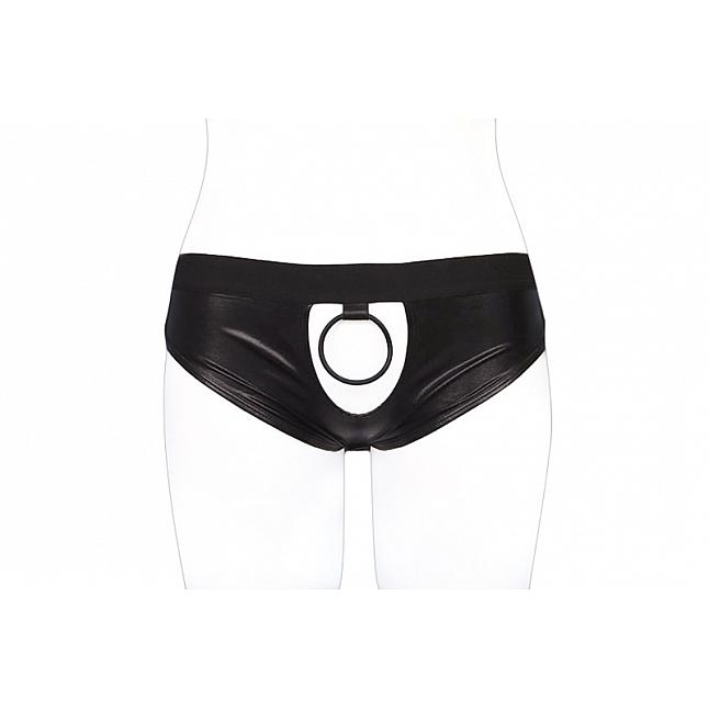 Tamatoys Black Open Back Panties with Cock Ring for Otokonoko