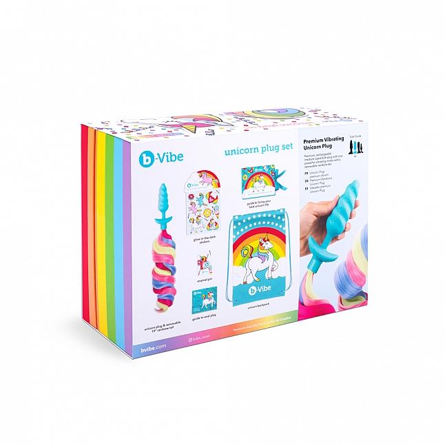 b-Vibe - 彩虹小馬馬 震動肛塞 6合1 套裝