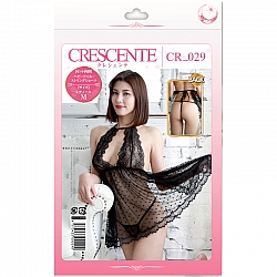 CRESCENTE - CR-029 掛頸蕾絲薄紗內衣