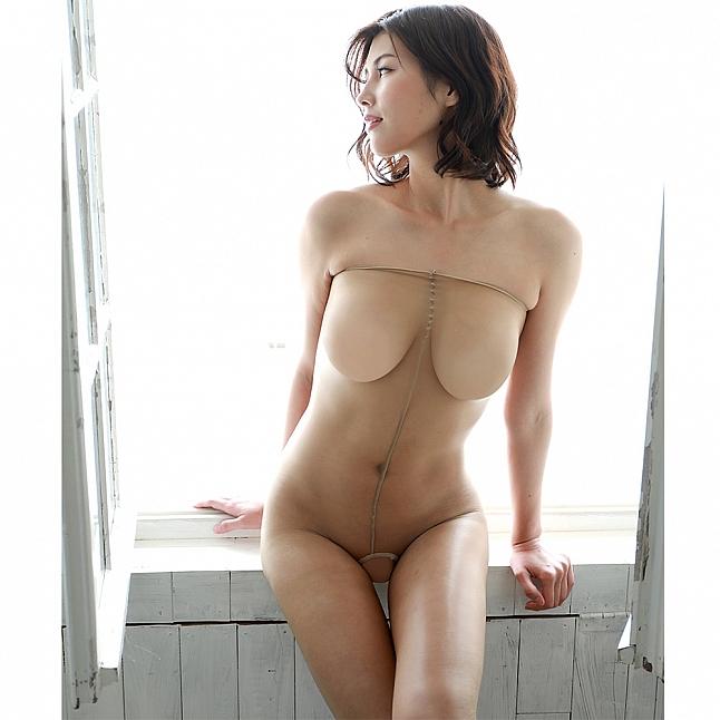 CRESCENTE - CR-031 性感裸色開檔連體襪衣