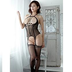 CRESCENTE - CR-033 性感露咪咪連身網衣