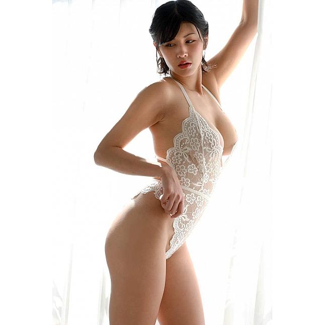 CRESCENTE - CR-010 White Lace Teddy