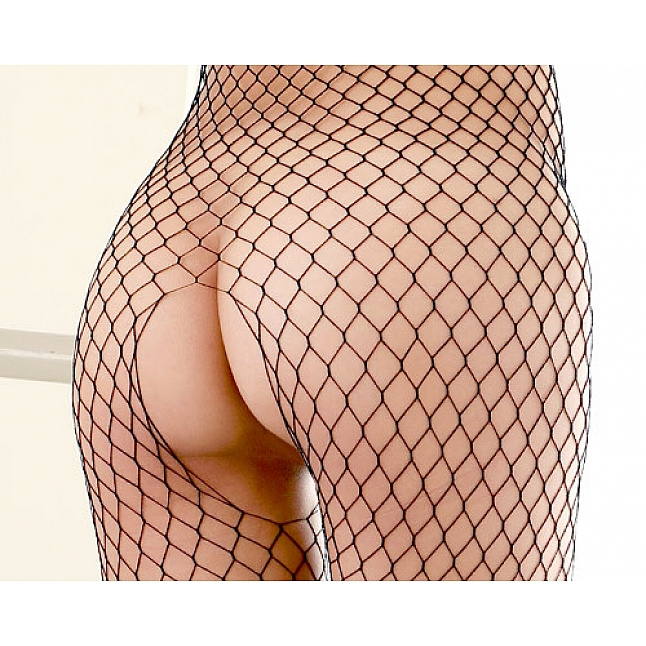CRESCENTE - CR-018  Fishnet Crotchless Bodystocking