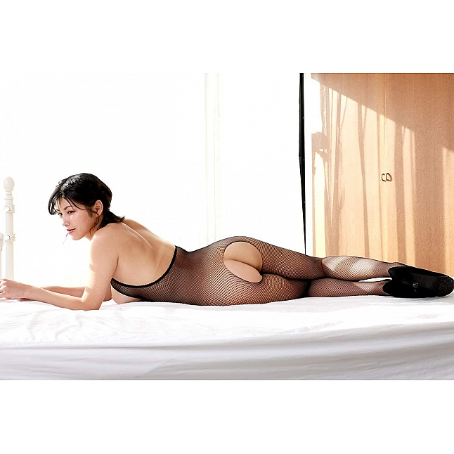 CRESCENTE - CR-021 Cupless Crotchless Fishnet Bodystocking