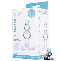 """glas 4"""" 玻璃後庭拉珠塞"""