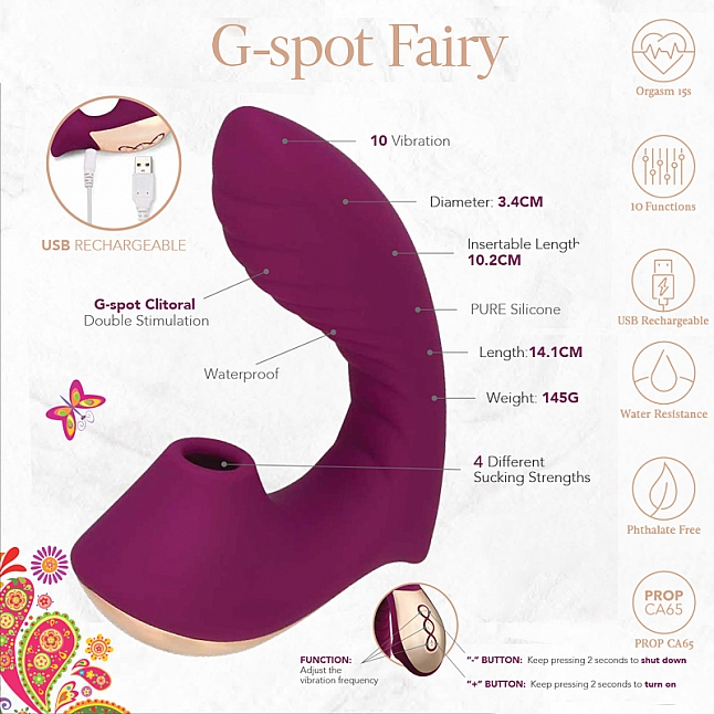 la mome - G-spot Fairy Rechargeable G-Spot and Clitoral Stimulator