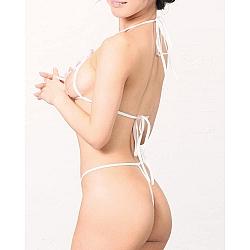 Mon Chéri 白色刺繡露咪咪套裝