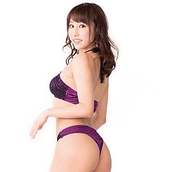 Mon Chéri 紫色掛頸蕾絲比堅尼套裝