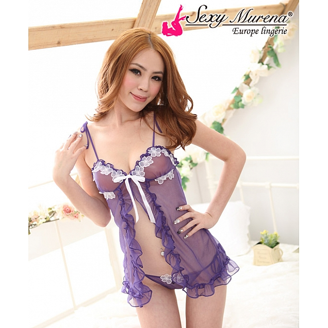 Sexy Murena Purple Floral Babydoll